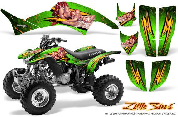 Honda TRX400EX 99 07 CreatorX Graphics Kit Little Sins Green 570x376 - Honda TRX 400EX 1999-2007 Graphics