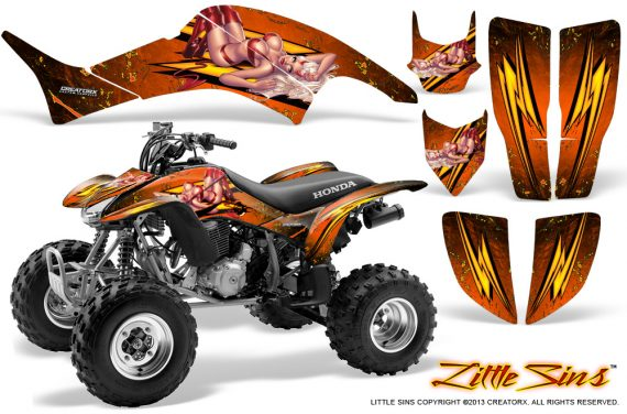Honda TRX400EX 99 07 CreatorX Graphics Kit Little Sins Orange 570x376 - Honda TRX 400EX 1999-2007 Graphics