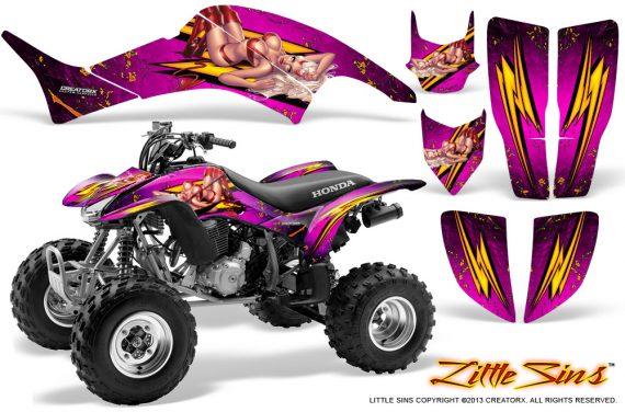 Honda TRX400EX 99 07 CreatorX Graphics Kit Little Sins Pink 570x376 - Honda TRX 400EX 1999-2007 Graphics