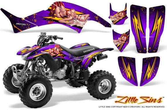 Honda TRX400EX 99 07 CreatorX Graphics Kit Little Sins Purple 570x376 - Honda TRX 400EX 1999-2007 Graphics