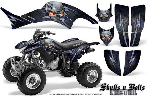 Honda TRX400EX 99 07 CreatorX Graphics Kit Skulls n Bolts Metal Blue 570x376 - Honda TRX 400EX 1999-2007 Graphics