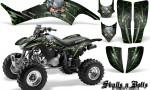 Honda TRX400EX 99 07 CreatorX Graphics Kit Skulls n Bolts Metal Green 150x90 - Honda TRX 400EX 1999-2007 Graphics