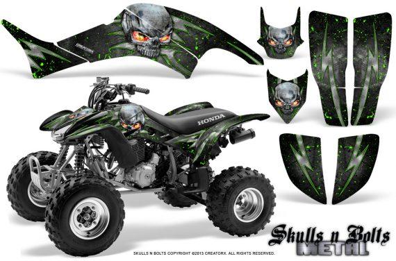 Honda TRX400EX 99 07 CreatorX Graphics Kit Skulls n Bolts Metal Green 570x376 - Honda TRX 400EX 1999-2007 Graphics