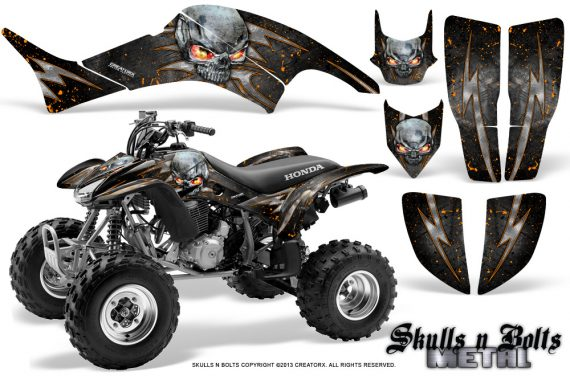Honda TRX400EX 99 07 CreatorX Graphics Kit Skulls n Bolts Metal Orange 570x376 - Honda TRX 400EX 1999-2007 Graphics