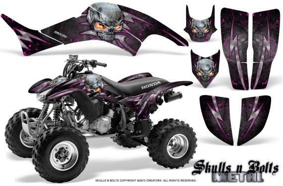 Honda TRX400EX 99 07 CreatorX Graphics Kit Skulls n Bolts Metal Pink 570x376 - Honda TRX 400EX 1999-2007 Graphics