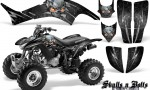 Honda TRX400EX 99 07 CreatorX Graphics Kit Skulls n Bolts Metal Silver 150x90 - Honda TRX 400EX 1999-2007 Graphics
