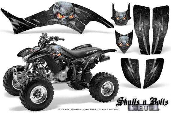 Honda TRX400EX 99 07 CreatorX Graphics Kit Skulls n Bolts Metal Silver 570x376 - Honda TRX 400EX 1999-2007 Graphics