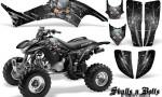 Honda TRX400EX 99 07 CreatorX Graphics Kit Skulls n Bolts Metal White 150x90 - Honda TRX 400EX 1999-2007 Graphics