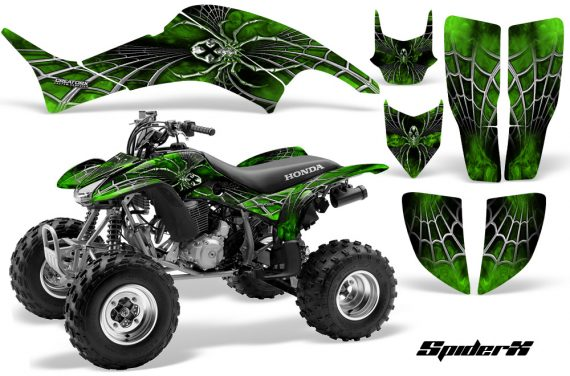 Honda TRX400EX 99 07 CreatorX Graphics Kit SpiderX Green 570x376 - Honda TRX 400EX 1999-2007 Graphics