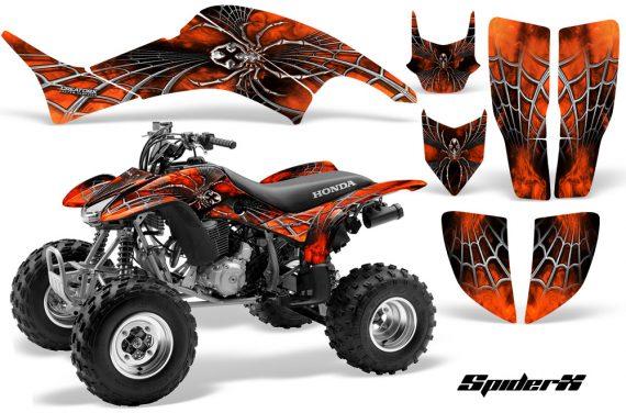Honda TRX400EX 99 07 CreatorX Graphics Kit SpiderX Orange 570x376 - Honda TRX 400EX 1999-2007 Graphics