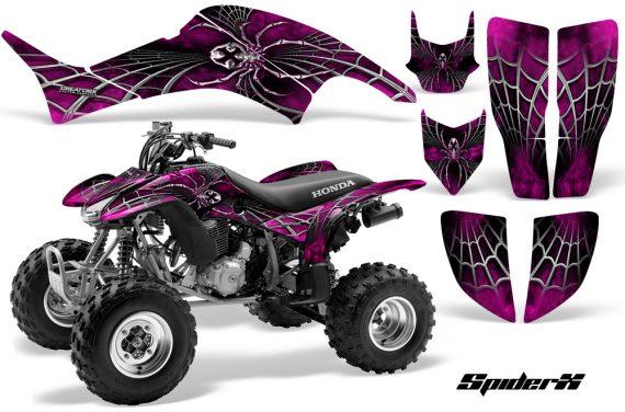Honda TRX400EX 99 07 CreatorX Graphics Kit SpiderX Pink 570x376 - Honda TRX 400EX 1999-2007 Graphics