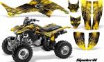 Honda TRX400EX 99 07 CreatorX Graphics Kit SpiderX Yellow BB 150x90 - Honda TRX 400EX 1999-2007 Graphics