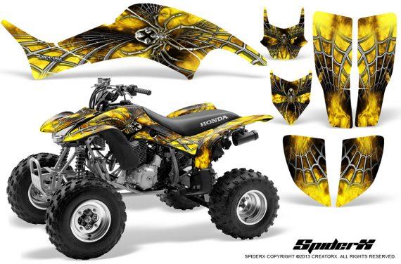 Honda TRX400EX 99 07 CreatorX Graphics Kit SpiderX Yellow BB 570x376 - Honda TRX 400EX 1999-2007 Graphics