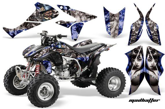 Honda TRX450 ER 09 AMR Graphic Kit BLUE SILVERSTRIPE MADHATTER WEB 570x376 - Honda TRX 450R 2004-2016 Graphics