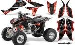 Honda TRX450 ER 09 AMR Graphic Kit HATTER RED BLACKSTRIPE 150x90 - Honda TRX 450R 2004-2016 Graphics