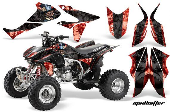 Honda TRX450 ER 09 AMR Graphic Kit HATTER RED BLACKSTRIPE 570x376 - Honda TRX 450R 2004-2016 Graphics