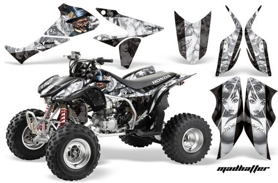 Honda TRX450 ER 09 AMR Graphic Kit MadHatter BLACK WHITESTRIPE WEB 570x376 - Honda TRX 450R 2004-2016 Graphics