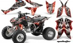 Honda TRX450 ER 09 AMR Graphic Kit WEB MADHATTER RED SILVERSTRIPE 1000 150x90 - Honda TRX 450R 2004-2016 Graphics