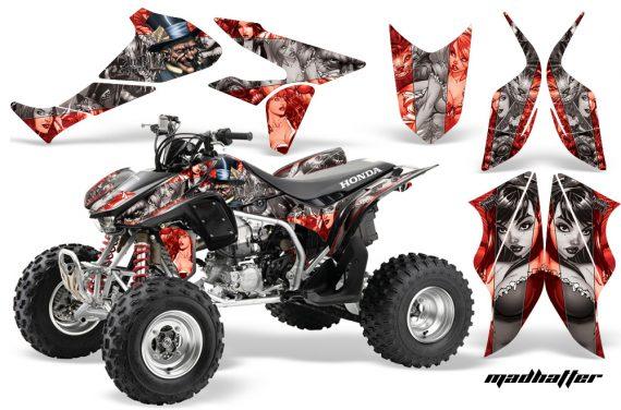 Honda TRX450 ER 09 AMR Graphic Kit WEB MADHATTER RED SILVERSTRIPE 1000 570x376 - Honda TRX 450R 2004-2016 Graphics