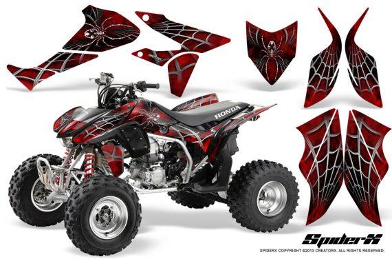 Honda TRX450R 04 12 CreatorX Graphics Kit SpiderX Red 570x376 - Honda TRX 450R 2004-2016 Graphics