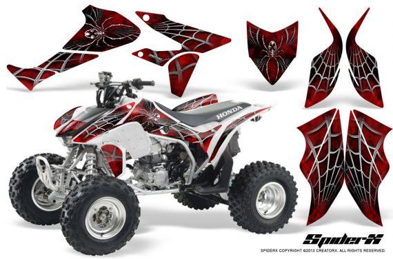 Honda TRX450R 04 12 CreatorX Graphics Kit SpiderX Red WB 570x376 - Honda TRX 450R 2004-2016 Graphics