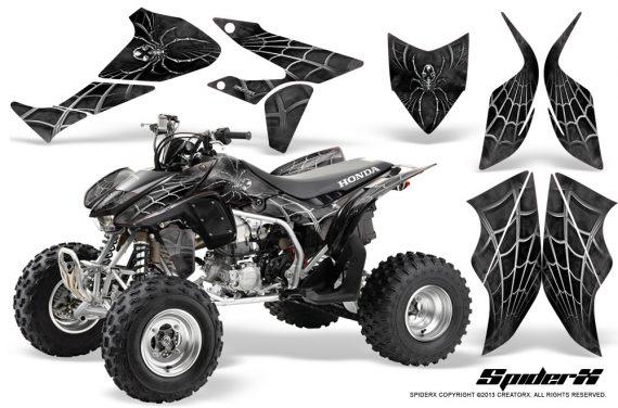 Honda TRX450R 04 12 CreatorX Graphics Kit SpiderX Silver 570x376 - Honda TRX 450R 2004-2016 Graphics