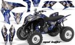 Honda TRX700 AMR Graphic Kit 2008 MAD HATTER BLUE SILVERSTRIPE 150x90 - Honda TRX 700XX Graphics