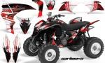 Honda TRX700 AMR Graphic Kit Carbon X RED 150x90 - Honda TRX 700XX Graphics