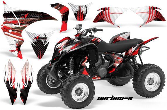Honda TRX700 AMR Graphic Kit Carbon X RED 570x376 - Honda TRX 700XX Graphics