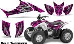 Honda TRX90 CreatorX Graphics Kit Bolt Thrower Pink 150x90 - Honda TRX 90 2006-2020 Graphics