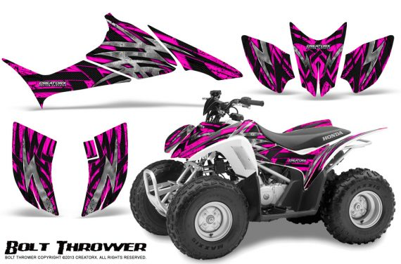 Honda TRX90 CreatorX Graphics Kit Bolt Thrower Pink 570x376 - Honda TRX 90 2006-2020 Graphics