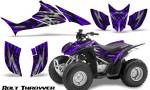 Honda TRX90 CreatorX Graphics Kit Bolt Thrower Purple 150x90 - Honda TRX 90 2006-2020 Graphics