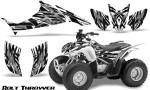 Honda TRX90 CreatorX Graphics Kit Bolt Thrower White 150x90 - Honda TRX 90 2006-2020 Graphics