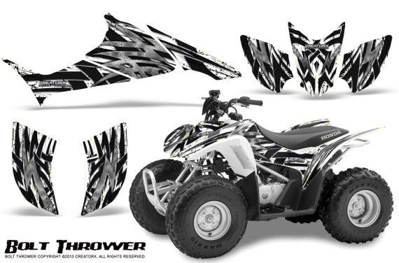 Honda TRX90 CreatorX Graphics Kit Bolt Thrower White 570x376 - Honda TRX 90 2006-2020 Graphics