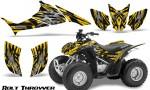 Honda TRX90 CreatorX Graphics Kit Bolt Thrower Yellow 150x90 - Honda TRX 90 2006-2020 Graphics