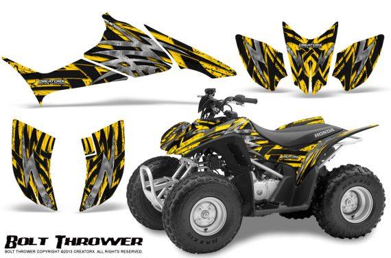 Honda TRX90 CreatorX Graphics Kit Bolt Thrower Yellow 570x376 - Honda TRX 90 2006-2020 Graphics