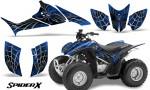 Honda TRX90 CreatorX Graphics Kit SpiderX Blue 150x90 - Honda TRX 90 2006-2020 Graphics