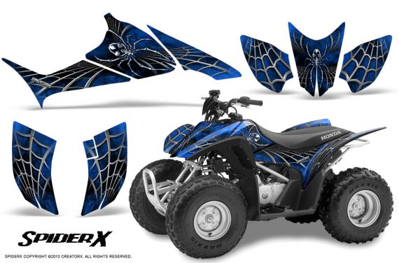 Honda TRX90 CreatorX Graphics Kit SpiderX Blue 570x376 - Honda TRX 90 2006-2020 Graphics