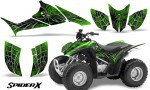 Honda TRX90 CreatorX Graphics Kit SpiderX Green 150x90 - Honda TRX 90 2006-2020 Graphics