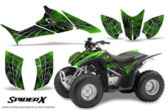 Honda TRX90 CreatorX Graphics Kit SpiderX Green 570x376 - Honda TRX 90 2006-2020 Graphics