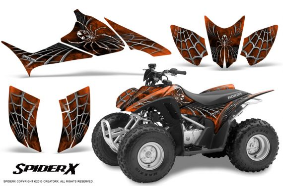 Honda TRX90 CreatorX Graphics Kit SpiderX OrangeDark 570x376 - Honda TRX 90 2006-2020 Graphics