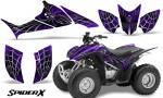 Honda TRX90 CreatorX Graphics Kit SpiderX Purple 150x90 - Honda TRX 90 2006-2020 Graphics