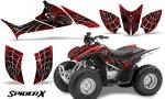 Honda TRX90 CreatorX Graphics Kit SpiderX Red BB 150x90 - Honda TRX 90 2006-2020 Graphics