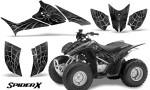 Honda TRX90 CreatorX Graphics Kit SpiderX Silver 150x90 - Honda TRX 90 2006-2020 Graphics