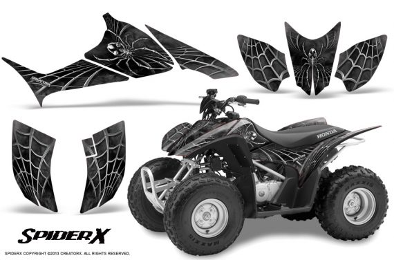 Honda TRX90 CreatorX Graphics Kit SpiderX Silver 570x376 - Honda TRX 90 2006-2020 Graphics