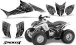 Honda TRX90 CreatorX Graphics Kit SpiderX White 150x90 - Honda TRX 90 2006-2020 Graphics