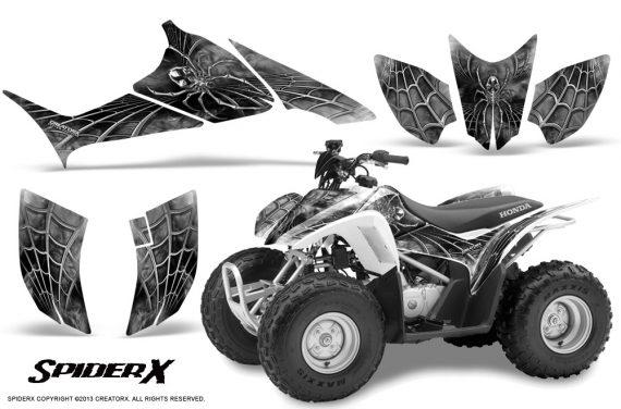 Honda TRX90 CreatorX Graphics Kit SpiderX White 570x376 - Honda TRX 90 2006-2020 Graphics