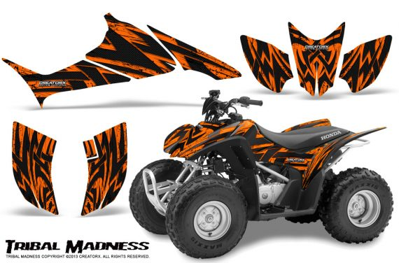 Honda TRX90 CreatorX Graphics Kit Tribal Madness Orange 570x376 - Honda TRX 90 2006-2020 Graphics