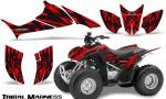 Honda TRX90 CreatorX Graphics Kit Tribal Madness Red BB 150x90 - Honda TRX 90 2006-2020 Graphics