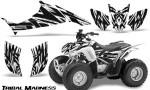 Honda TRX90 CreatorX Graphics Kit Tribal Madness White 150x90 - Honda TRX 90 2006-2020 Graphics